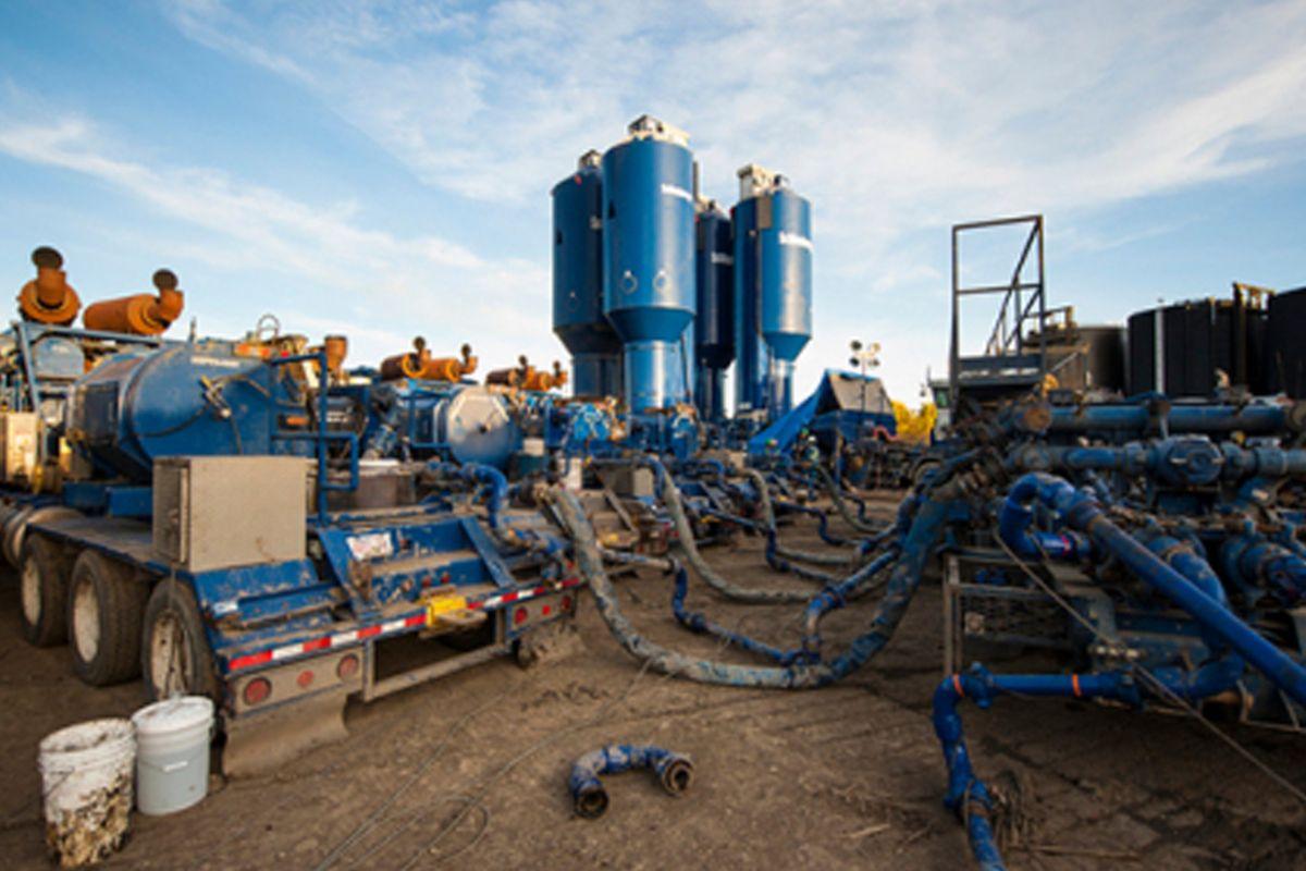 Hydraulic Fracturing site in Canada