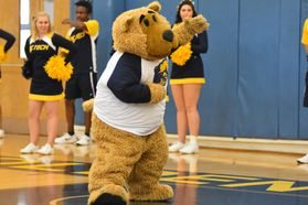 WVU Tech mascot Monty the Golden Bear