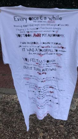 T-shirt from the 2019 Clothesline Project