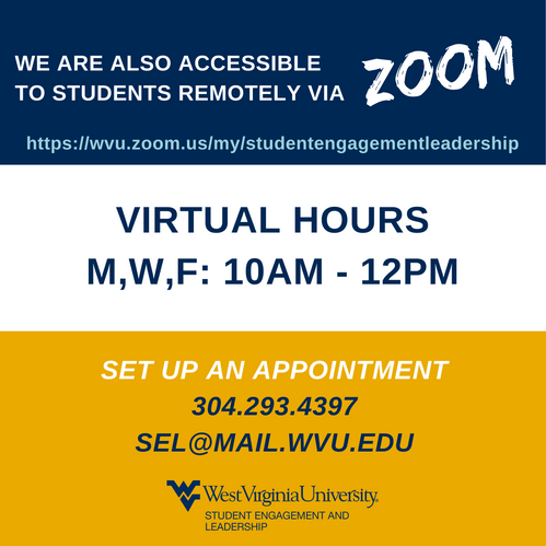 Virtual Hours on Zoom MWF 10am-12pm
