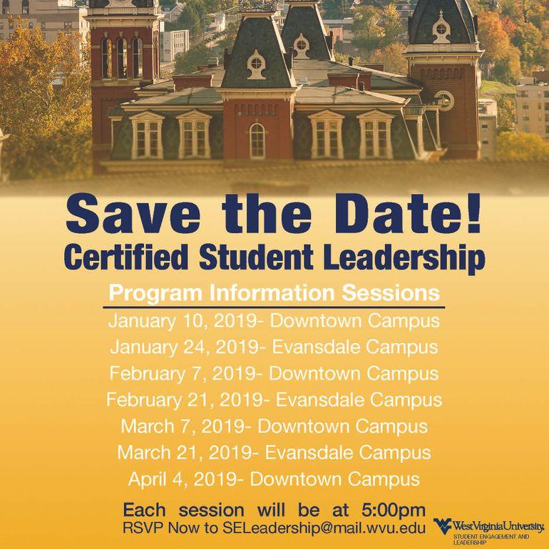 Certified Student Leader Program Student Engagement West