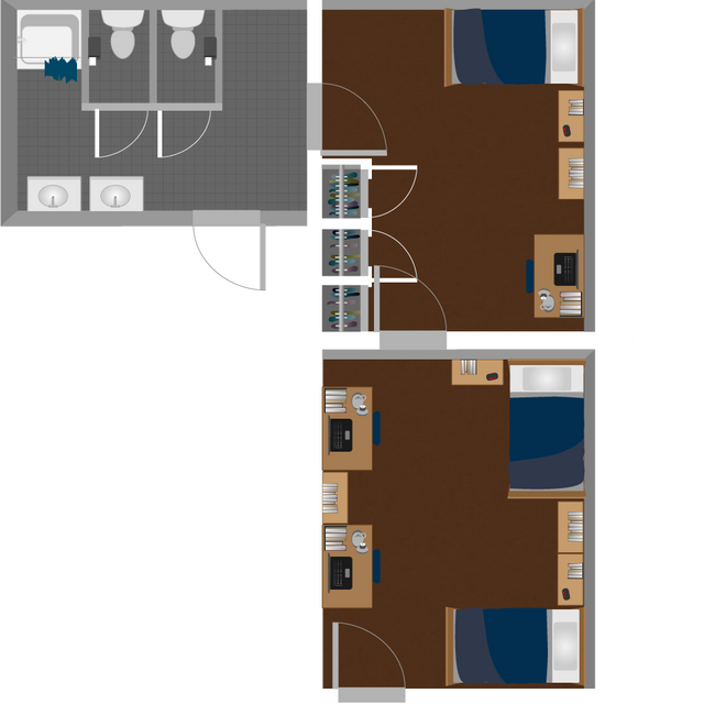 Boreman South Triple Suite Layout