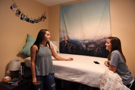 Honors Students Hanging out in Honors Hall Dorm Room