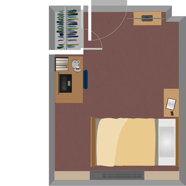 Boreman South Single Room Layout
