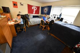 Dadisman Hall Student Studying in Dorm