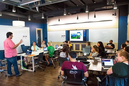 Students in the The Innovation Center at WVU
