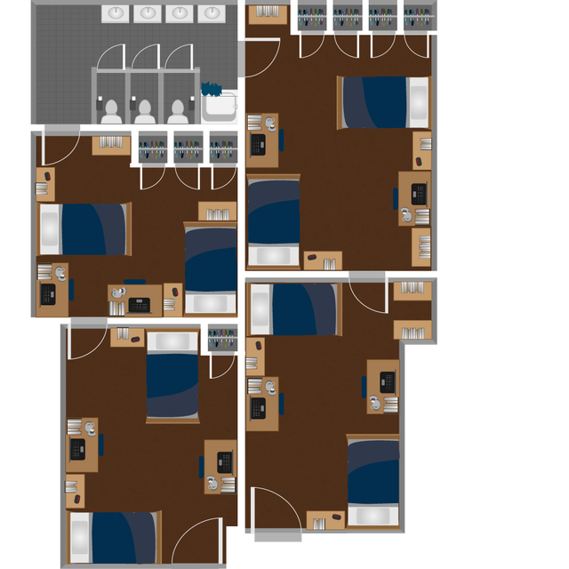 Boreman South Quad Suite Layout