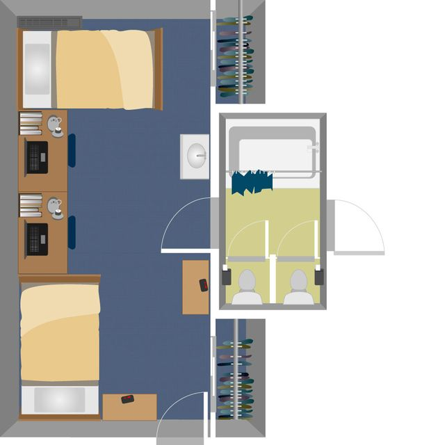 Summit Double Suite Layout