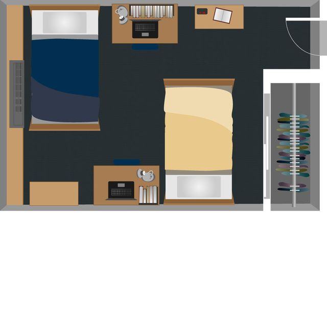 Braxton Double Room Layout