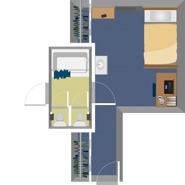 Summit Single Suite Layout