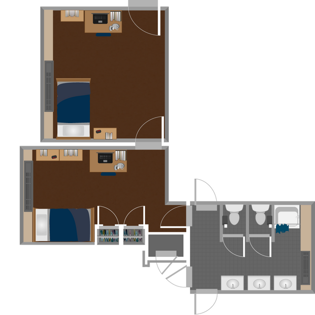 Boreman South Double Suite Layout