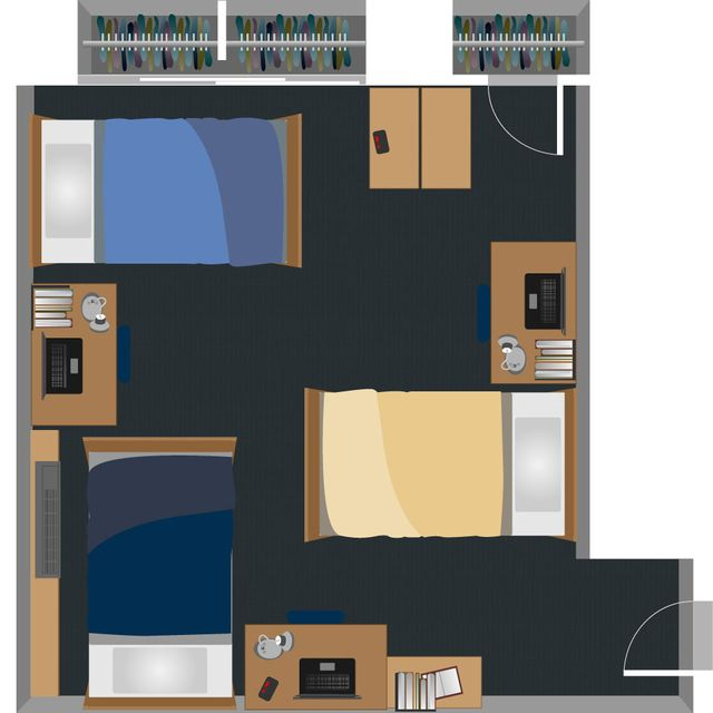 Bennett Triplle Room Layout