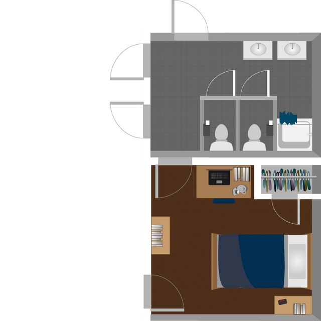Boreman South Single Suite Layout