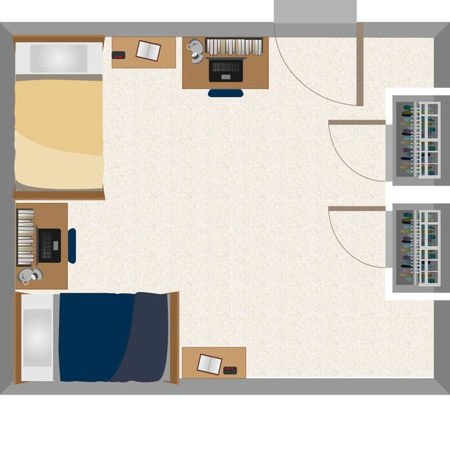 Dadisman Double Room Layout