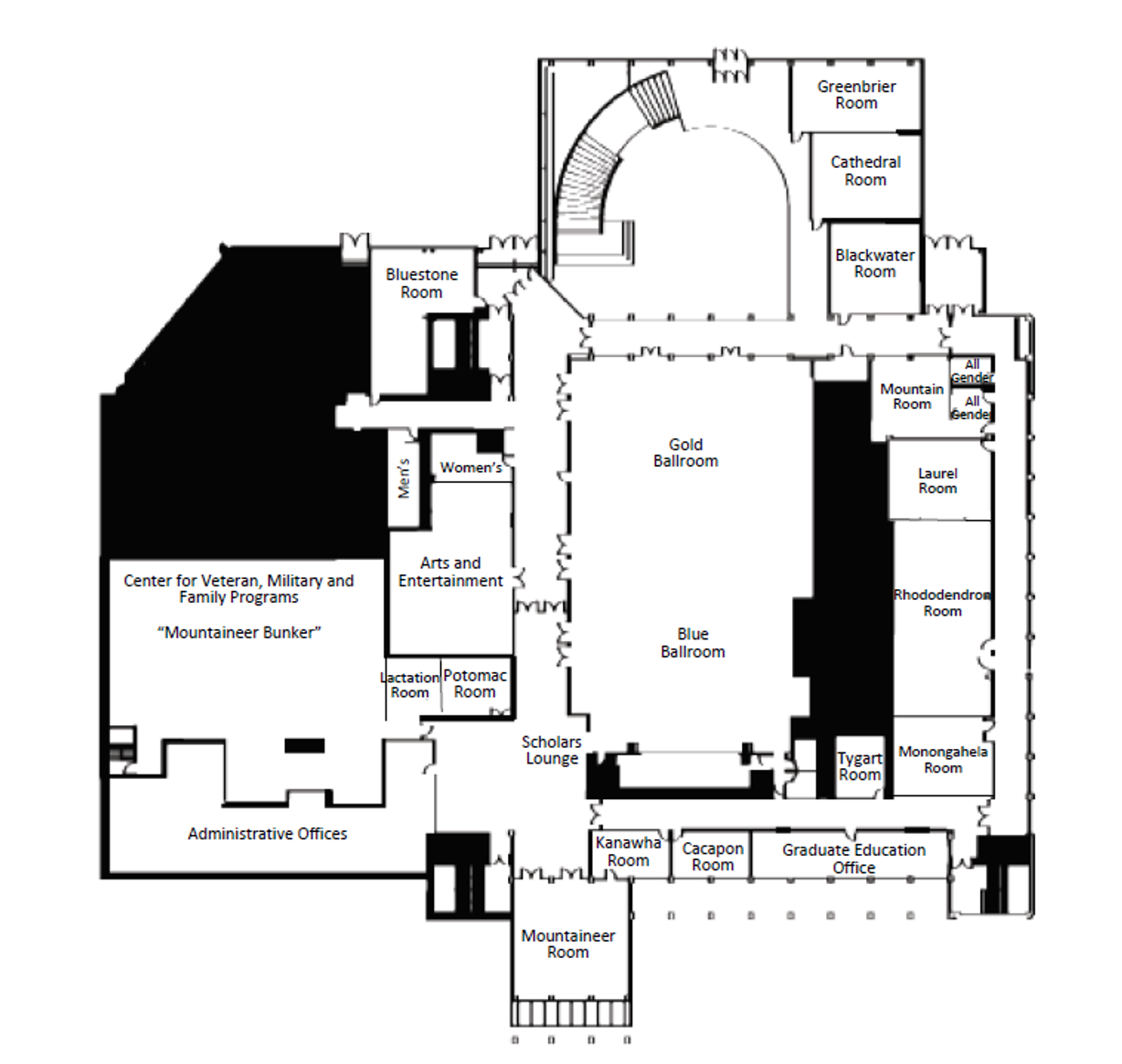 Mountainlair Second Floor Map