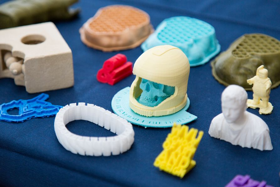 selection of 3D printed objects