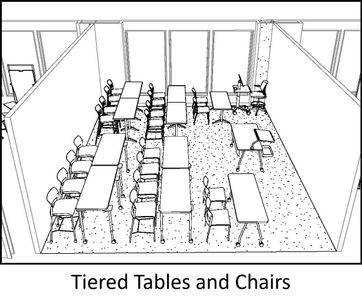 Sketch of Hodges 202 classroom