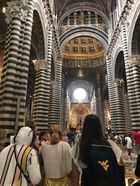 students standing in the Cathedral of Siena