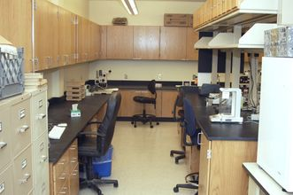 Lab space with countertops