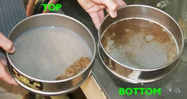 Two pot with samples