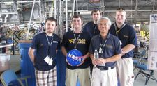 Celebratory portrait of Robotics team selected to compete in Moons to Mars Ice and Prospecting Challenge.