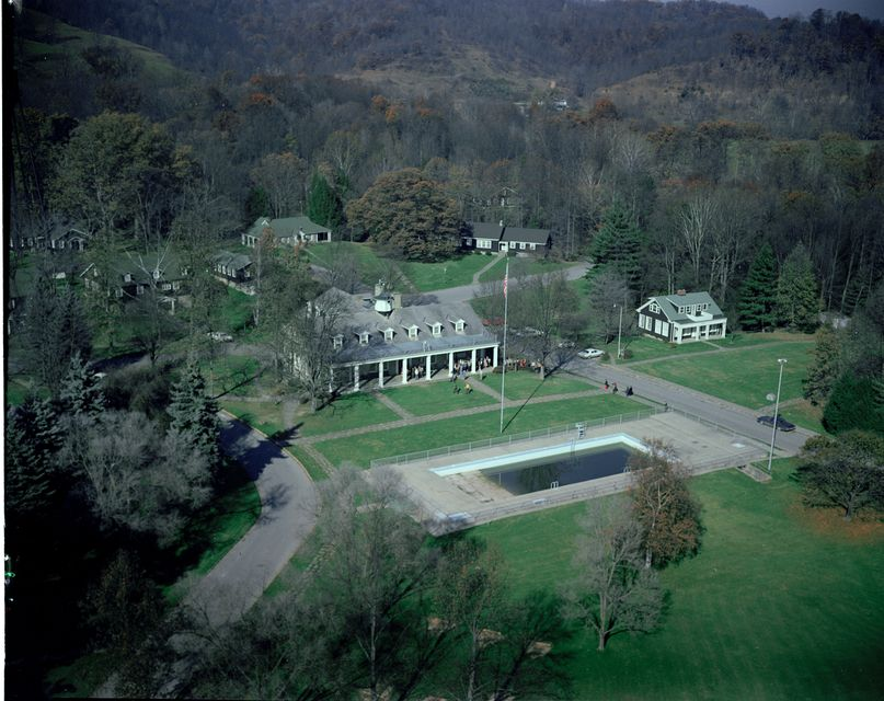 Overhead photo of Jackson's Mill