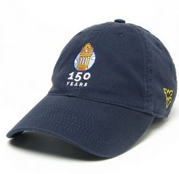 An image of the the Blue WVU 150 Anniversary Hat