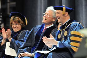 Bill Clinton and James Clements at commencement
