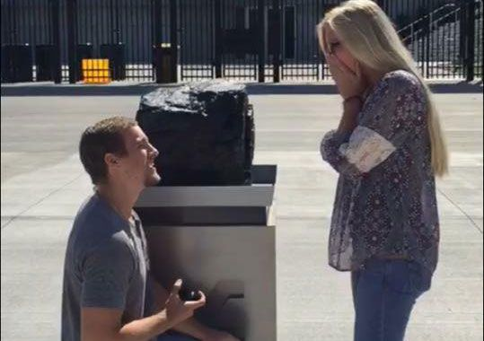 Marriage proposal outside Milan Puskar Stadium