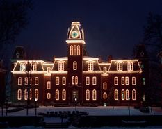 Woodburn Hall with lights