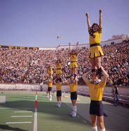 Cheerleaders at Mountaineer Field