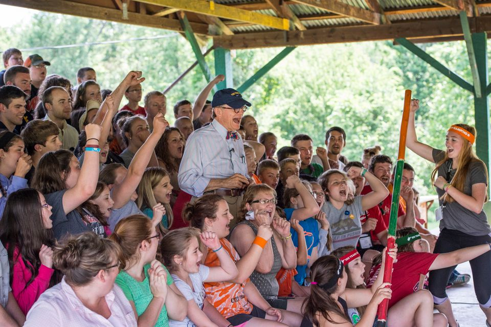WVU President Gordon Gee at a 4-H camp
