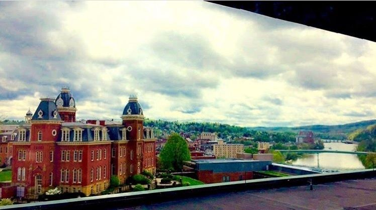 Woodburn Hall from the vantage point of the Life Sciences building