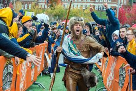 Mountaineer runs through crowd at ESPN's College Game Day broadcast
