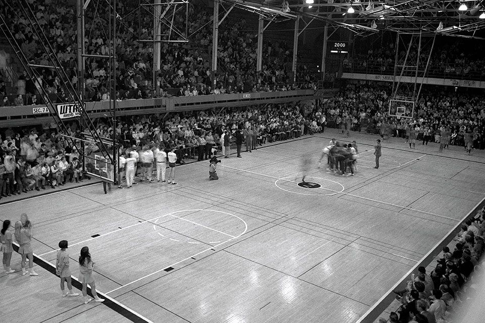 Basketball game in Field House
