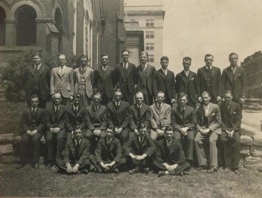group photo of Pi Kappa Phi members in 1930