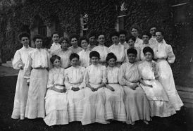 group photo of female students