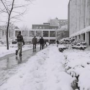 Students walking in front of Mountainlair