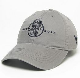 An image of the the Gray WVU 150 Anniversary Hat