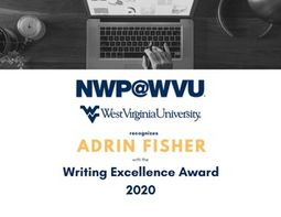 national writing project 2020 writing excellence award winner is Adrin Fisher