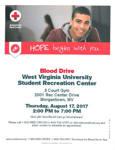 August 17, 2017 Blood Drive