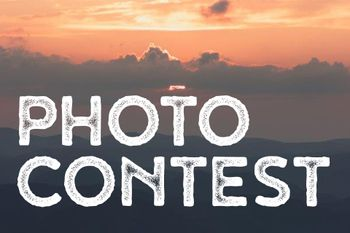 Photo Contest with sunset in the background