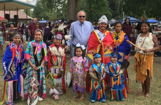 William Gollnick with members of Tejon Tribe