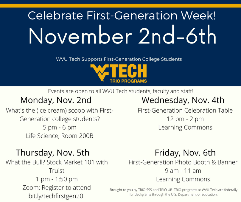 Picture of First-Generation Week Flyer