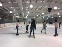 Academy students enjoy an afternoon of ice skating in Charleston.