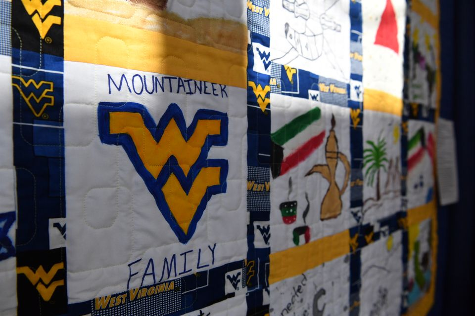 Mountaineer Family quilt at Mountaineer Week