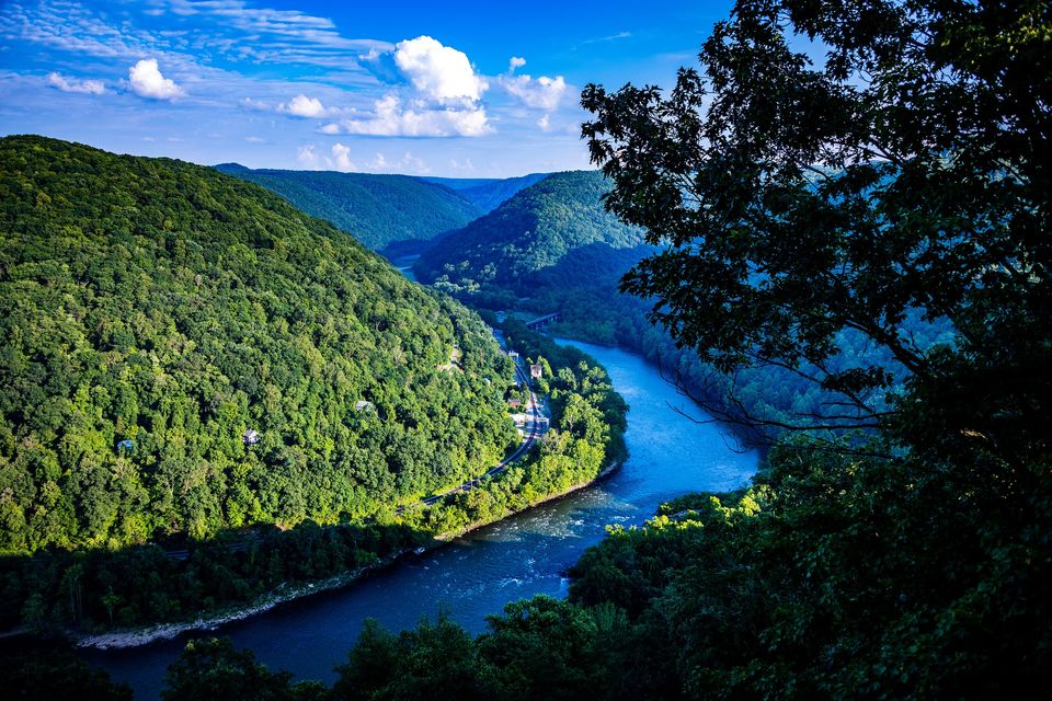 View of New River in the summer in WV