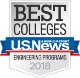 US News & World Report Best Colleges Engineering Programs Badge