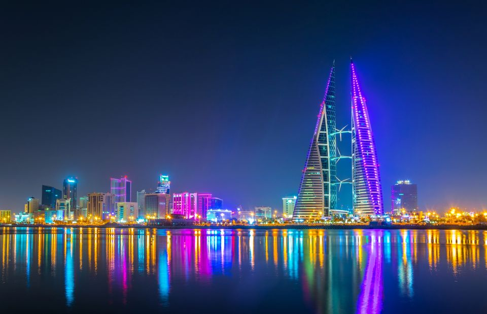 manama city at night