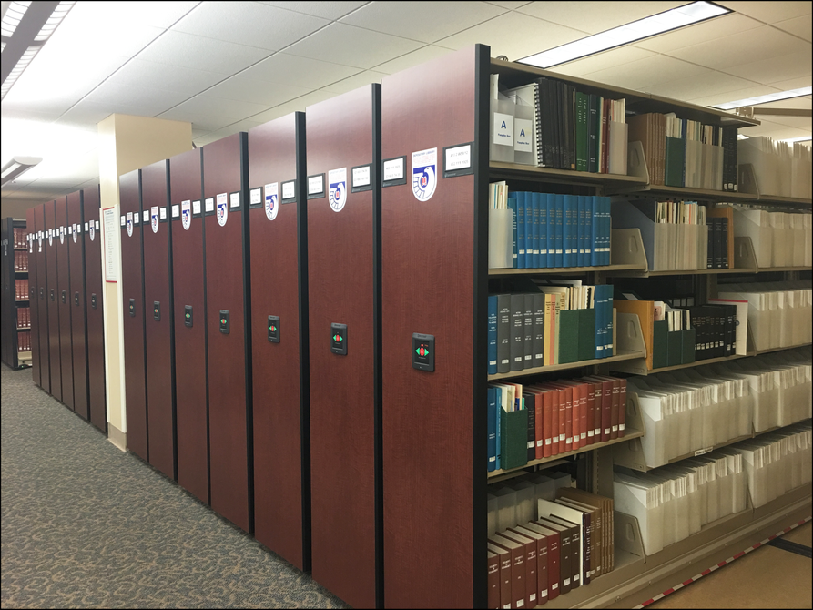 compact shelving for gov docs at downtown library